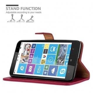 Cadorabo Hülle für Nokia Lumia 1320 in WEIN ROT - Handyhülle mit Magnetverschluss, Standfunktion und Kartenfach - Case Cover Schutzhülle Etui Tasche Book Klapp Style - Vorschau 5
