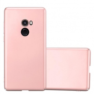 Cadorabo Hülle für Xiaomi Mi Mix 2 in METALL ROSÉ GOLD - Hardcase Handyhülle aus Plastik gegen Kratzer und Stöße - Schutzhülle Bumper Ultra Slim Back Case Hard Cover