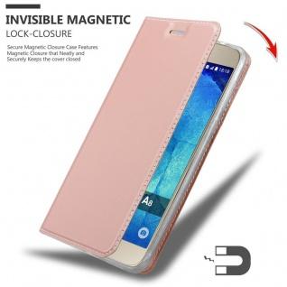 Cadorabo Hülle für Samsung Galaxy A8 2015 in CLASSY ROSÉ GOLD - Handyhülle mit Magnetverschluss, Standfunktion und Kartenfach - Case Cover Schutzhülle Etui Tasche Book Klapp Style - Vorschau 3