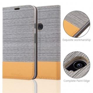 Cadorabo Hülle für Google Pixel 2 XL in HELL GRAU BRAUN - Handyhülle mit Magnetverschluss, Standfunktion und Kartenfach - Case Cover Schutzhülle Etui Tasche Book Klapp Style - Vorschau 2