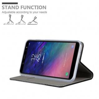 Cadorabo Hülle für Samsung Galaxy J6 2018 in GRAU SCHWARZ - Handyhülle mit Magnetverschluss, Standfunktion und Kartenfach - Case Cover Schutzhülle Etui Tasche Book Klapp Style - Vorschau 4