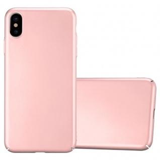 Cadorabo Hülle für Apple iPhone XS MAX in METALL ROSÉ GOLD Hardcase Handyhülle aus Plastik gegen Kratzer und Stöße Schutzhülle Bumper Ultra Slim Back Case Hard Cover