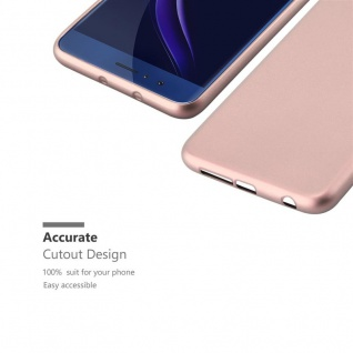 Cadorabo Hülle für Honor 8 in METALLIC ROSÉ GOLD - Handyhülle aus flexiblem TPU Silikon - Silikonhülle Schutzhülle Ultra Slim Soft Back Cover Case Bumper - Vorschau 2