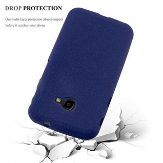 Cadorabo Hülle für Samsung Galaxy XCover 4 in FROST DUNKEL BLAU - Handyhülle aus flexiblem TPU Silikon - Silikonhülle Schutzhülle Ultra Slim Soft Back Cover Case Bumper - Vorschau 5