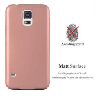 Cadorabo Hülle für Samsung Galaxy S5 / S5 NEO in METALL ROSE GOLD - Hardcase Handyhülle aus Plastik gegen Kratzer und Stöße - Schutzhülle Bumper Ultra Slim Back Case Hard Cover - Vorschau 2
