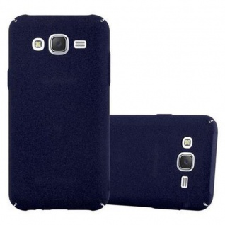 Cadorabo Hülle für Samsung Galaxy J5 2015 in FROSTY BLAU - Hardcase Handyhülle aus Plastik gegen Kratzer und Stöße - Schutzhülle Bumper Ultra Slim Back Case Hard Cover