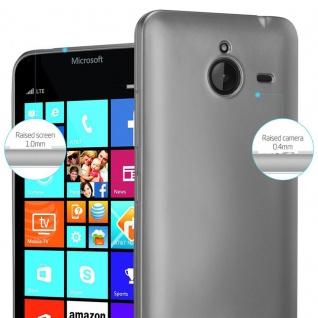 Cadorabo Hülle für Nokia Lumia 640 XL in METALLIC GRAU - Handyhülle aus flexiblem TPU Silikon - Silikonhülle Schutzhülle Ultra Slim Soft Back Cover Case Bumper - Vorschau 4