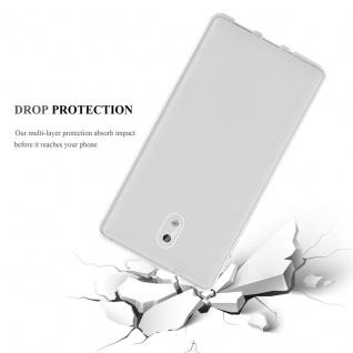 Cadorabo Hülle für Samsung Galaxy J3 2017 in VOLL TRANSPARENT - Handyhülle aus flexiblem TPU Silikon - Silikonhülle Schutzhülle Ultra Slim Soft Back Cover Case Bumper - Vorschau 2