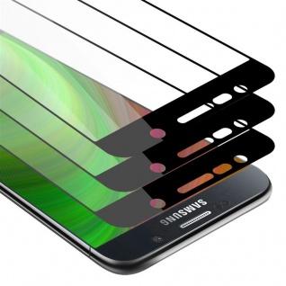 Cadorabo 3x Vollbild Panzer Folie für Samsung Galaxy NOTE 5 Schutzfolie in TRANSPARENT mit SCHWARZ 3er Pack Gehärtetes (Tempered) Display-Schutzglas in 9H Härte mit 3D Touch