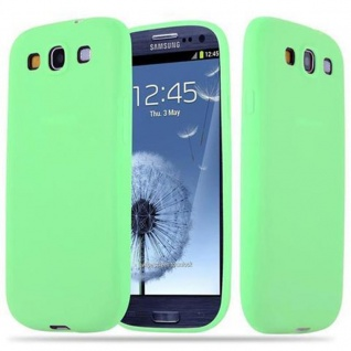 Cadorabo Hülle für Samsung Galaxy S3 / S3 NEO in CANDY PASTELL GRÜN - Handyhülle aus flexiblem TPU Silikon - Silikonhülle Schutzhülle Ultra Slim Soft Back Cover Case Bumper