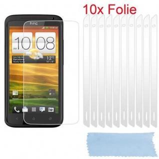Cadorabo Displayschutzfolien für HTC ONE ?X? - Schutzfolien in HIGH CLEAR ? 10 Stück hochtransparenter Schutzfolien gegen Staub, Schmutz und Kratzer