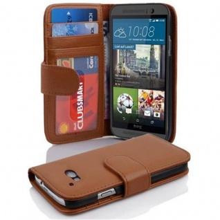 Cadorabo Hülle für HTC ONE M9 in COGNAC BRAUN Handyhülle mit Magnetverschluss und 3 Kartenfächern Case Cover Schutzhülle Etui Tasche Book Klapp Style