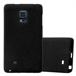 Cadorabo Hülle für Samsung Galaxy NOTE EDGE in FROST SCHWARZ - Handyhülle aus flexiblem TPU Silikon - Silikonhülle Schutzhülle Ultra Slim Soft Back Cover Case Bumper