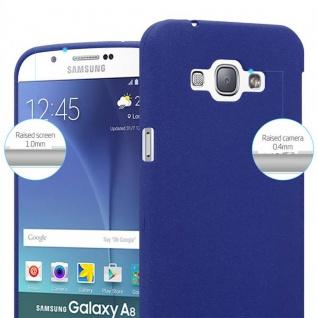Cadorabo Hülle für Samsung Galaxy A8 2015 in FROST DUNKEL BLAU - Handyhülle aus flexiblem TPU Silikon - Silikonhülle Schutzhülle Ultra Slim Soft Back Cover Case Bumper - Vorschau 5