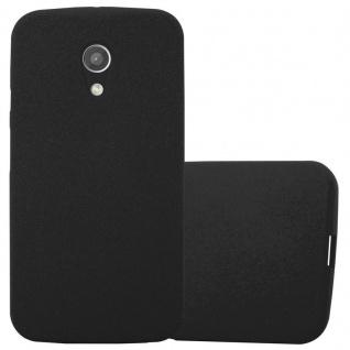 Cadorabo Hülle für Motorola MOTO G2 in FROST SCHWARZ - Handyhülle aus flexiblem TPU Silikon - Silikonhülle Schutzhülle Ultra Slim Soft Back Cover Case Bumper