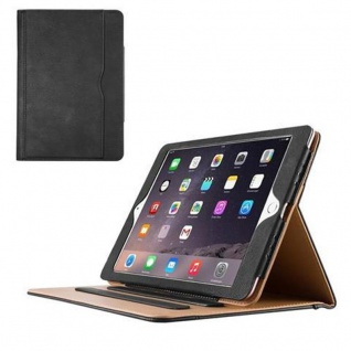 """ Cadorabo ? Apple iPad PRO (9, 7"" Zoll) Schutzhülle im Book Style mit Standfunktion und Auto Wake Sleep im Office Design ? Case Cover Bumper in SCHWARZ SAND BRAUN"""