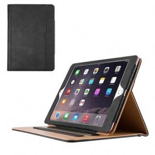 Cadorabo - Apple iPad PRO (9, 7 Zoll) Schutzhülle im Book Style mit Standfunktion und Auto Wake Sleep im Office Design - Case Cover Bumper in SCHWARZ SAND BRAUN