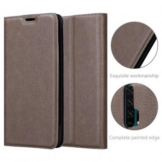 Cadorabo Hülle für Honor 20 PRO in KAFFEE BRAUN - Handyhülle mit Magnetverschluss, Standfunktion und Kartenfach - Case Cover Schutzhülle Etui Tasche Book Klapp Style - Vorschau 5