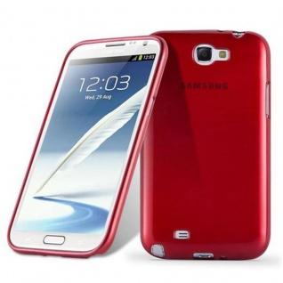 Cadorabo Hülle für Samsung Galaxy NOTE 2 in ROT - Handyhülle aus flexiblem TPU Silikon - Silikonhülle Schutzhülle Ultra Slim Soft Back Cover Case Bumper