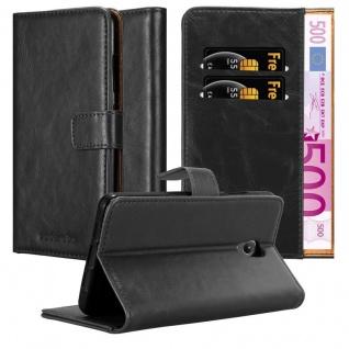 Cadorabo Hülle für Lenovo P2 in GRAPHIT SCHWARZ ? Handyhülle mit Magnetverschluss, Standfunktion und Kartenfach ? Case Cover Schutzhülle Etui Tasche Book Klapp Style