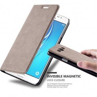 Cadorabo Hülle für Samsung Galaxy J5 2016 in KAFFEE BRAUN - Handyhülle mit Magnetverschluss, Standfunktion und Kartenfach - Case Cover Schutzhülle Etui Tasche Book Klapp Style