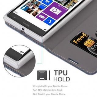 Cadorabo Hülle für Nokia Lumia 1020 in DUNKEL BLAU SCHWARZ - Handyhülle mit Magnetverschluss, Standfunktion und Kartenfach - Case Cover Schutzhülle Etui Tasche Book Klapp Style - Vorschau 3