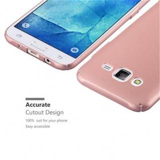 Cadorabo Hülle für Samsung Galaxy J5 2015 in METALL ROSE GOLD ? Hardcase Handyhülle aus Plastik gegen Kratzer und Stöße ? Schutzhülle Bumper Ultra Slim Back Case Hard Cover - Vorschau 3