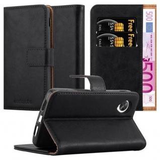 Cadorabo Hülle für LG NEXUS 5 in GRAPHIT SCHWARZ ? Handyhülle mit Magnetverschluss, Standfunktion und Kartenfach ? Case Cover Schutzhülle Etui Tasche Book Klapp Style