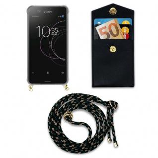 Cadorabo Handy Kette für Sony Xperia XZ1 in CAMOUFLAGE - Silikon Necklace Umhänge Hülle mit Gold Ringen, Kordel Band Schnur und abnehmbarem Etui ? Schutzhülle - Vorschau 4