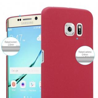 Cadorabo Hülle für Samsung Galaxy S6 EDGE in FROSTY ROT - Hardcase Handyhülle aus Plastik gegen Kratzer und Stöße - Schutzhülle Bumper Ultra Slim Back Case Hard Cover - Vorschau 3