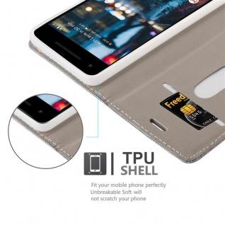 Cadorabo Hülle für Google Pixel 2 in HELL GRAU BRAUN - Handyhülle mit Magnetverschluss, Standfunktion und Kartenfach - Case Cover Schutzhülle Etui Tasche Book Klapp Style - Vorschau 2
