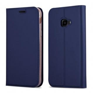 Cadorabo Hülle für Samsung Galaxy XCOVER 4 in CLASSY DUNKEL BLAU - Handyhülle mit Magnetverschluss, Standfunktion und Kartenfach - Case Cover Schutzhülle Etui Tasche Book Klapp Style