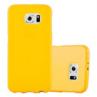 Cadorabo Hülle für Samsung Galaxy S6 in JELLY GELB ? Handyhülle aus flexiblem TPU Silikon ? Silikonhülle Schutzhülle Ultra Slim Soft Back Cover Case Bumper