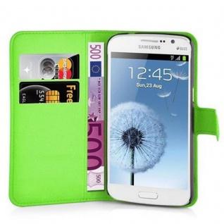 Cadorabo Hülle für Samsung Galaxy GRAND 2 in MINZ GRÜN - Handyhülle mit Magnetverschluss, Standfunktion und Kartenfach - Case Cover Schutzhülle Etui Tasche Book Klapp Style - Vorschau 5