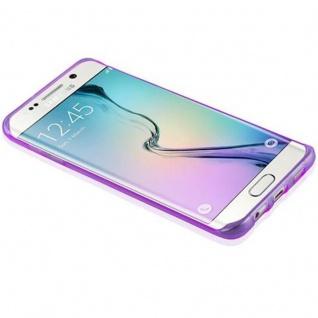 Cadorabo Hülle für Samsung Galaxy S6 EDGE PLUS in TRANSPARENT LILA - Handyhülle aus flexiblem TPU Silikon - Silikonhülle Schutzhülle Ultra Slim Soft Back Cover Case Bumper - Vorschau 4