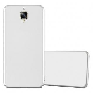 Cadorabo Hülle für OnePlus 3 / 3T in METALL SILBER ? Hardcase Handyhülle aus Plastik gegen Kratzer und Stöße ? Schutzhülle Bumper Ultra Slim Back Case Hard Cover