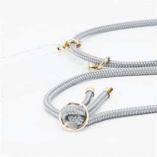 Cadorabo Handy Kette für Oppo A12 in SILBER GRAU Silikon Necklace Umhänge Hülle mit Gold Ringen, Kordel Band Schnur und abnehmbarem Etui Schutzhülle - Vorschau 2