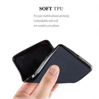 Cadorabo Hülle für Samsung Galaxy J5 2016 in WOODEN BLAU - Handyhülle aus flexiblem TPU Silikon - Silikonhülle Schutzhülle Ultra Slim Soft Back Cover Case Bumper - Vorschau 3