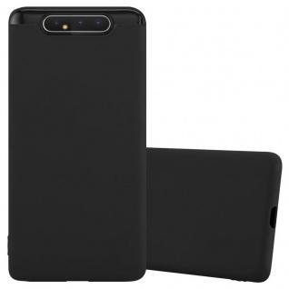 Cadorabo Hülle für Samsung Galaxy A80 / A90 in CANDY SCHWARZ Handyhülle aus flexiblem TPU Silikon Silikonhülle Schutzhülle Ultra Slim Soft Back Cover Case Bumper