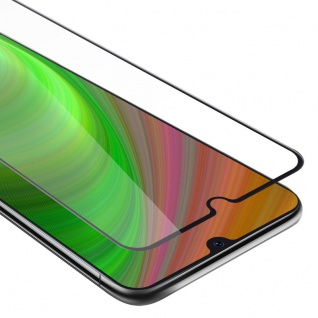 Cadorabo Vollbild Panzer Folie für Samsung Galaxy A30S - Schutzfolie in TRANSPARENT mit SCHWARZ - Gehärtetes (Tempered) Display-Schutzglas in 9H Härte mit 3D Touch Kompatibilität