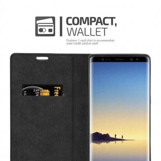 Cadorabo Hülle für Samsung Galaxy NOTE 8 in NACHT SCHWARZ - Handyhülle mit Magnetverschluss, Standfunktion und Kartenfach - Case Cover Schutzhülle Etui Tasche Book Klapp Style - Vorschau 5