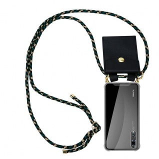 Cadorabo Handy Kette für Huawei P20 PRO in CAMOUFLAGE - Silikon Necklace Umhänge Hülle mit Gold Ringen, Kordel Band Schnur und abnehmbarem Etui ? Schutzhülle