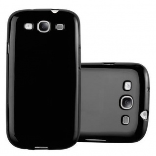 Cadorabo Hülle für Samsung Galaxy S3 MINI in JELLY SCHWARZ ? Handyhülle aus flexiblem TPU Silikon ? Silikonhülle Schutzhülle Ultra Slim Soft Back Cover Case Bumper