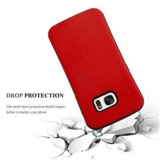 Cadorabo Hülle für Samsung Galaxy S7 - Hülle in FLAMMEN ROT - Small Waist Handyhülle mit rutschfestem Gummi-Rücken - Hard Case TPU Silikon Schutzhülle - Vorschau 2