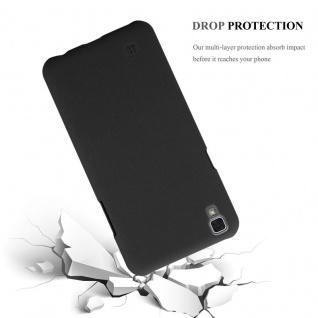Cadorabo Hülle für LG X Power in FROSTY SCHWARZ - Hardcase Handyhülle aus Plastik gegen Kratzer und Stöße - Schutzhülle Bumper Ultra Slim Back Case Hard Cover - Vorschau 5