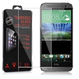 Cadorabo Panzer Folie für HTC ONE M8 (2.Gen.) - Schutzfolie in KRISTALL KLAR - Gehärtetes (Tempered) Display-Schutzglas in 9H Härte mit 3D Touch Kompatibilität