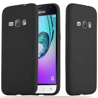 Cadorabo Hülle für Samsung Galaxy J1 2016 in CANDY SCHWARZ - Handyhülle aus flexiblem TPU Silikon - Silikonhülle Schutzhülle Ultra Slim Soft Back Cover Case Bumper