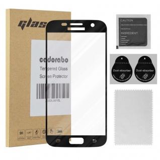 Cadorabo Vollbild Panzer Folie für Samsung Galaxy S7 - Schutzfolie in TRANSPARENT mit SCHWARZ - Gehärtetes (Tempered) Display-Schutzglas in 9H Härte mit 3D Touch Kompatibilität
