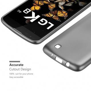 Cadorabo Hülle für LG K8 2016 in METALLIC GRAU - Handyhülle aus flexiblem TPU Silikon - Silikonhülle Schutzhülle Ultra Slim Soft Back Cover Case Bumper - Vorschau 5