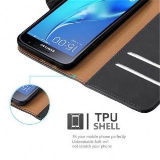 Cadorabo Hülle für Samsung Galaxy J3 2016 in GRAPHIT SCHWARZ - Handyhülle mit Magnetverschluss, Standfunktion und Kartenfach - Case Cover Schutzhülle Etui Tasche Book Klapp Style - Vorschau 3
